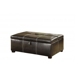 Tebow Espresso Storage Ottoman with Twin Bed